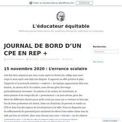 JOURNAL DE BORD D'UN CPE EN REP + – L'éducateur équitable