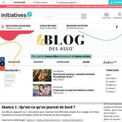 Créer un journal de bord avec des élèves - Le blog d'Initiatives