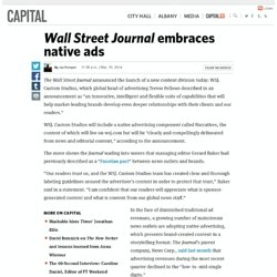 Wall Street Journal embraces native ads