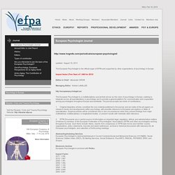 EFPA Journal - European Psychologist Journal