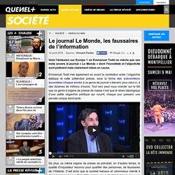 Le journal Le Monde, les faussaires de l'information
