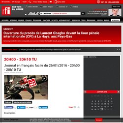 Journal en français facile du 26/01/2016 - 20h00 - 20h10 TU