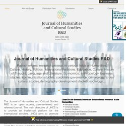 Journal of Humanities and Cultural Studies R&D