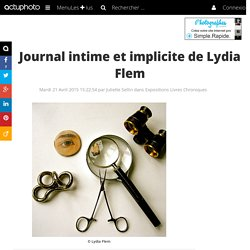 Journal intime et implicite de Lydia Flem