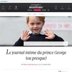 Le journal intime du prince George (ou presque)