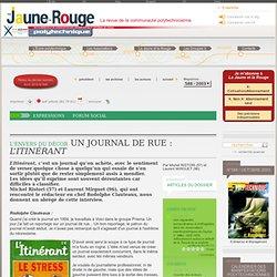 Un journal de rue : L'Itinérant