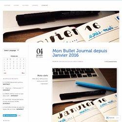 Mon Bullet Journal depuis Janvier 2016 – Verolafee