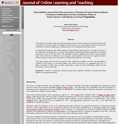 Online learning for adults factors that contribute to success a literature review