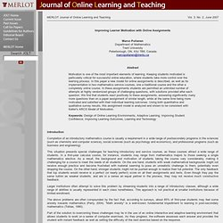 JOLT-Improving Lnr Motivation with Online Assignments