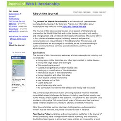 The Journal of Web Librarianship - home page