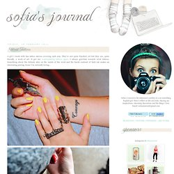 Sofias Journal: Wrist Tattoos