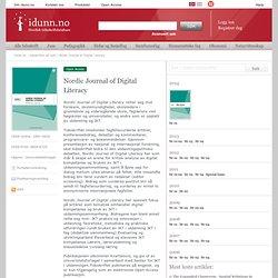 Nordic Journal of Digital Literacy - tidsskrifter - idunn.no - tidsskrifter på nett