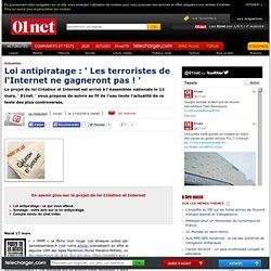 01net. - Le journal de la loi Création et Internet