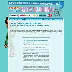 La Charte des journalistes jeunes