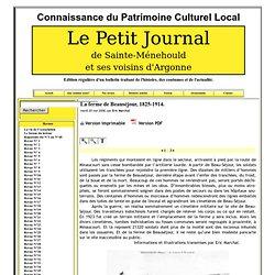 Le Petit Journal de Sainte- Ménehould et ses voisins d'Argonne