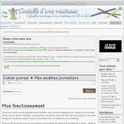 Cahier journal ♦ Mes modèles journaliers