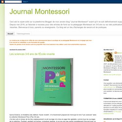 Journal Montessori