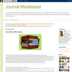 Journal Montessori: Les petits verbes rouges