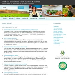 The Food Journal and Food, Nutrition & Science