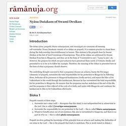Nyâsa Daśakam of Swami Desikan: Ramanuja.org