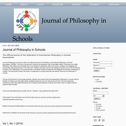 Journal of Philosophy in Schools