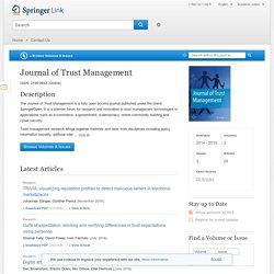 Journal of Trust Management - Springer