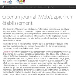Créer un journal (Web/papier) en établissement