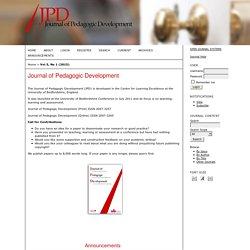 Journal of Pedagogic Development