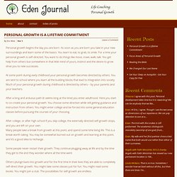 Eden Journal — Personal Development – Personal Growth