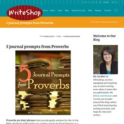 Journal Prompts from Proverbs