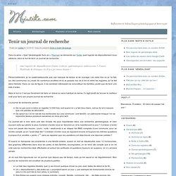 Tenir un journal de recherche