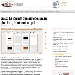 Linux : Le journal d'un novice, un an plus tard, le recueil
