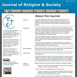 Journal of Religion and Society