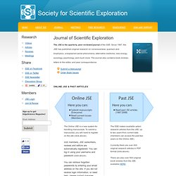 Society for Scientific Exploration