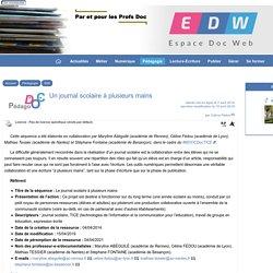 Un journal scolaire à plusieurs mains - [Espace Doc Web]