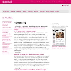 SERVICE DE COMMUNICATION - Le journal de l'UNIGE
