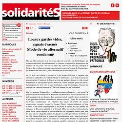 solidaritéS n°113: Locaux gardés vides, squats évacués<br>Mode de vie alternatif condamné