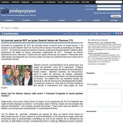 Un journal spécial SVT au lycée Gabriel Voisin de Tournus (71)