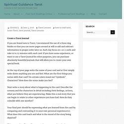 Create a Tarot Journal – Spiritual Guidance Tarot