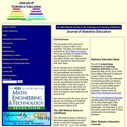 Journal of Statistics Education (JSE) Home Page