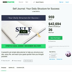 Self Journal: Your Daily Structure for Success by Best Self Co.