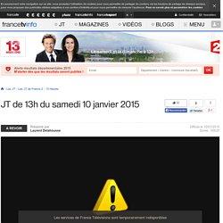 Le 13h de France 2 : journal télévisé du 10 janvier 2015 en replay