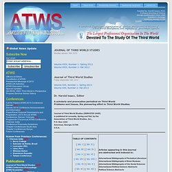 Journal of Third World Studies New « ATWS