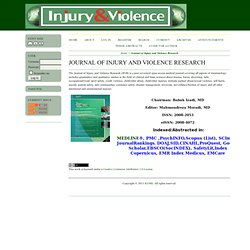 Journal of Injury and Violence Research