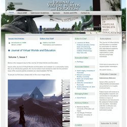 The Journal of Virtual Worlds and Education
