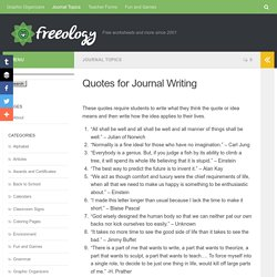 Quotes for Journal Writing - Freeology