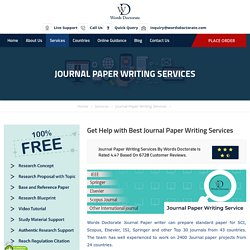 Research Paper & Journal Paper Writing Services