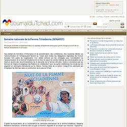 Semaine nationale de la Femme Tchadienne (SENAFET)
