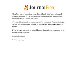 JournalFire | Online Journal Clubs and Discussion