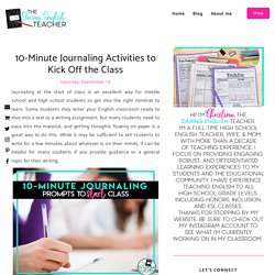 10-Minute Journaling Activities to Kick Off the Class